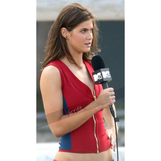Summer Quinn Baywatch Alexandra Daddario Red Vest