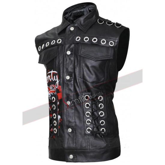 Property Of Joker Unisex Leather Vest