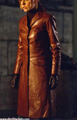 Buffy The Vampire Slayer Spike Trench Leather Jacket