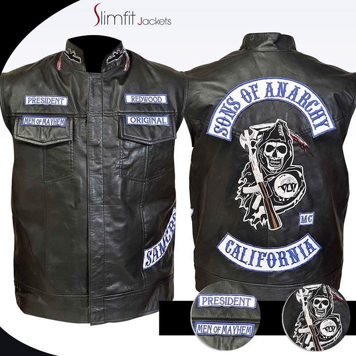 katey sagal biker black leather jacket. Black Bedroom Furniture Sets. Home Design Ideas