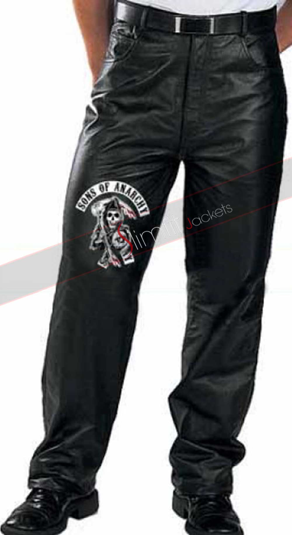 evel knievel vintage biker white leather pants