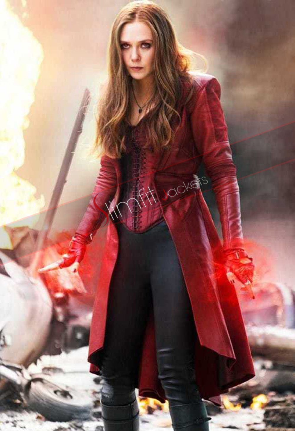 elizabeth olsen  scarlet witch  age of ultron jacket