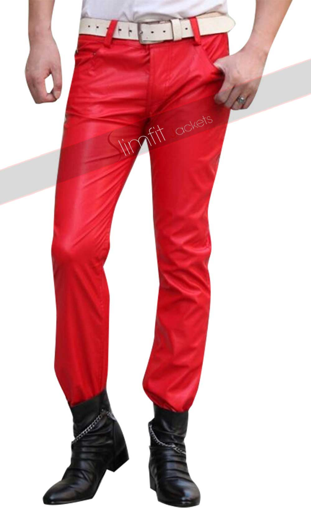 d659228c00ee8 2015 Fashion Sweatpants Men Hip Hop Red Leather Pant. $150. 0