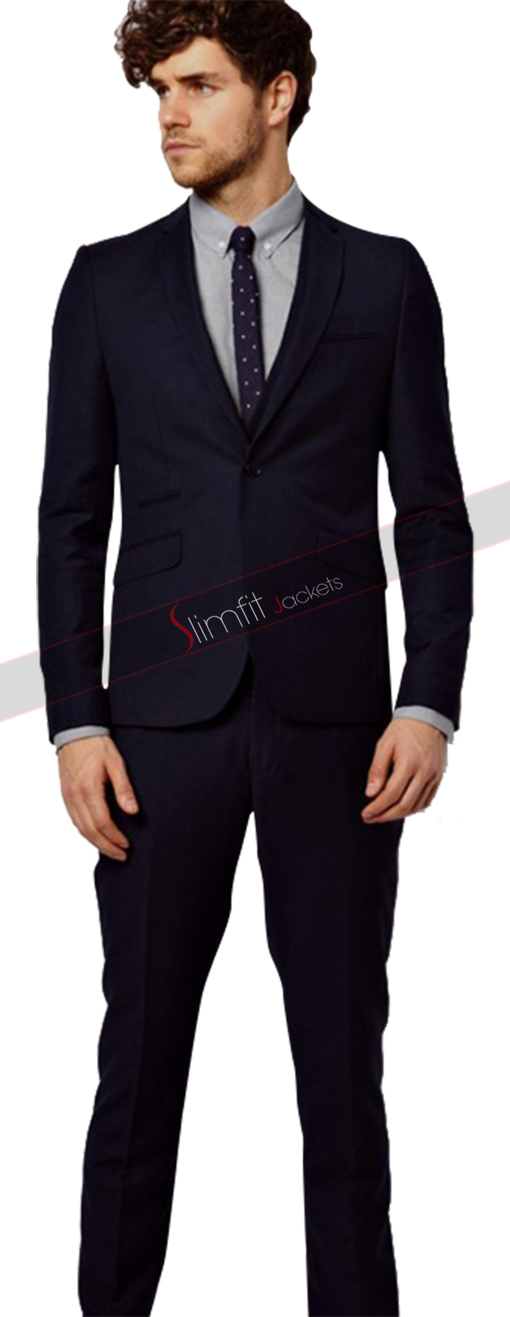 Slim Fit Light Blue 3 Piece Suit