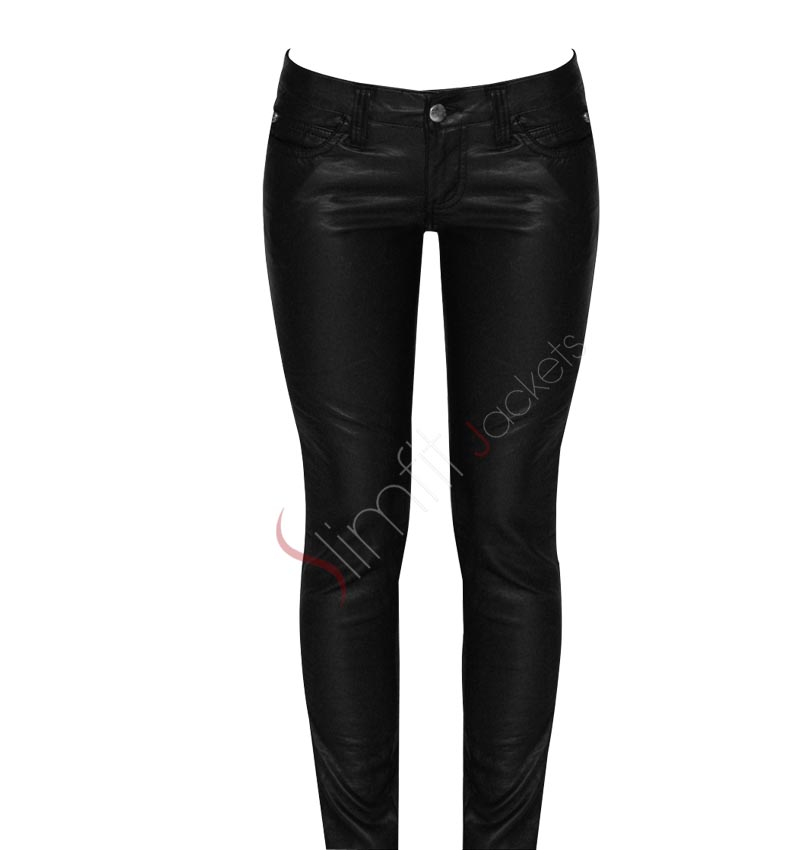 Popular 2017 Womens Long Leather Pants 2016 Womens Leather Pants Faux Leather
