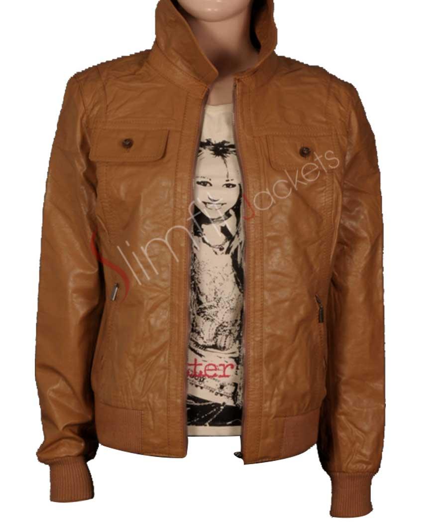04018b7e7 Men's Camel Colored Faux Leather Jacket Sale
